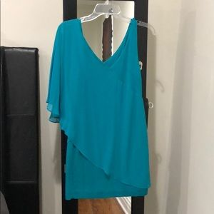 Formal mini dress in turquoise